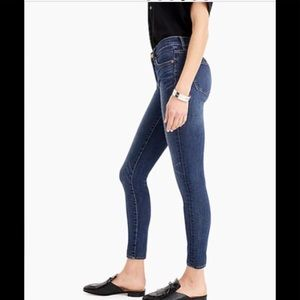 J. Crew Toothpick Skinny Cropped Ankle Jeans Dark Wash